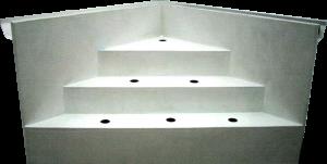 Escalier intérieur angle droit avec parois | P.P.S. FRANCE - produits polyester